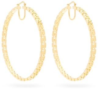 Versace Greca Large Hoop Earrings - Gold