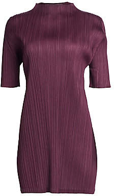 Pleats Please Issey Miyake Women's Monthly Colors September Mockneck Tunic