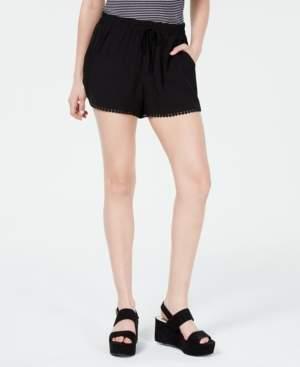 BeBop Juniors' Pompom-Trimmed Soft Shorts