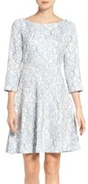 Eliza J Women's Embroidered Floral Fit & Flare Dress