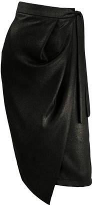 Cold Comfort Metallic Shimmer Wrap Skirt