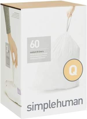 Simplehuman Code Q Bin Liners (60 Liners)