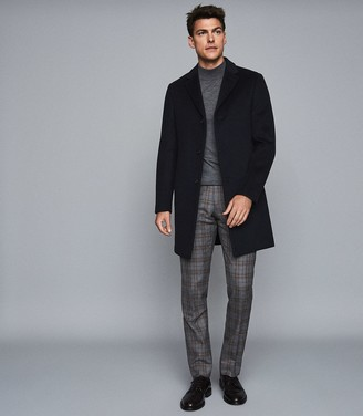 Reiss GABLE WOOL EPSOM OVERCOAT Navy