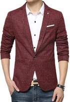 Vividda Slim Fit Casual Cotton Men's Jacket Blazer Business Suit Short Coat