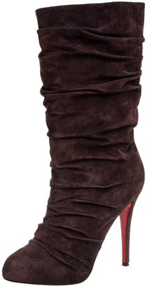 Christian Louboutin Brown Suede Pilos Boots Size 40