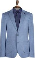 Burton Mens Slim Herringbone Jersey Blazer