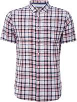 Linea Tredegar Linen Check Short Sleeve Shirt