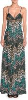 Missoni Lurex®; Metallic Sleeveless Keyhole Gown, Green