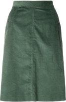 A.P.C. corduroy straight skirt