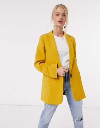 Closet London classic blazer in mustard