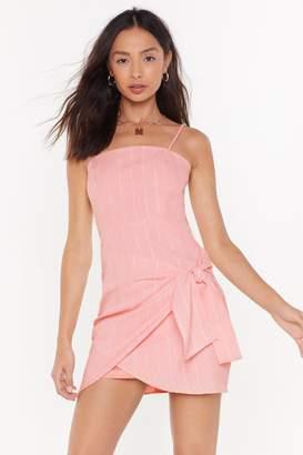 Nasty Gal Womens My Stripe of Party Wrap Mini Dress - pink - 12