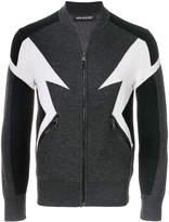 Neil Barrett symmetric zipped cardigan