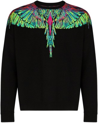 Marcelo Burlon County of Milan Neon Wings intarsia-knit sweater