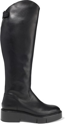 Clergerie Canada Leather Platform Knee Boots