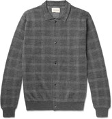 Oliver Spencer - Malden Checked Knitted Merino Wool Cardigan