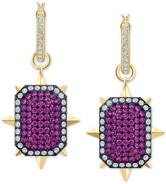 Swarovski Gold-Tone Crystal Reversible Drop Earrings