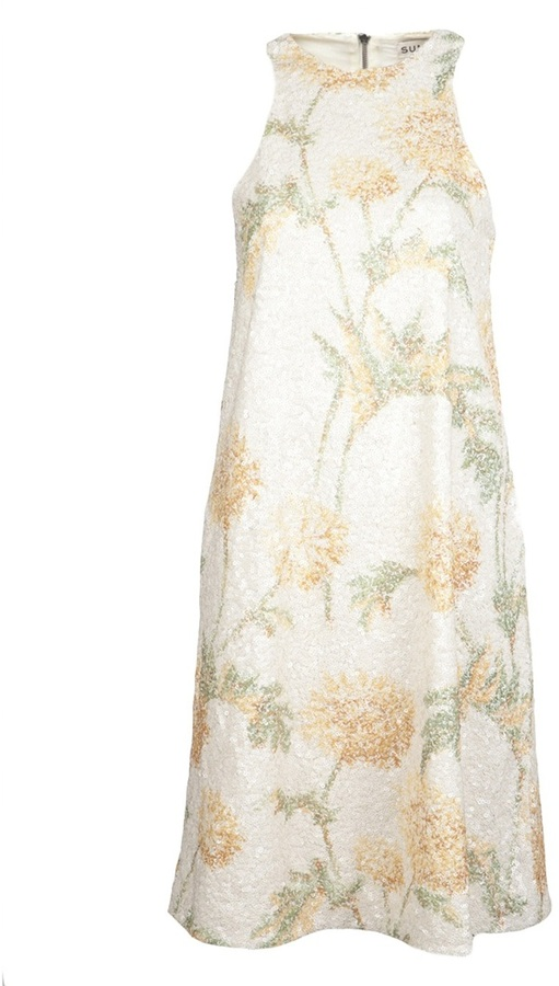 Suno Sequined floral dress