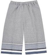Il Gufo Cotton-Linen Wide-Leg Capri Pants