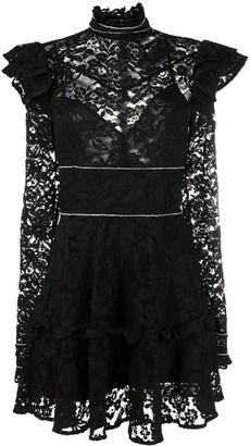 Philipp Plein Lace Short Dress