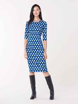 Diane von Furstenberg Saihana Silk-Jersey Sheath Dress