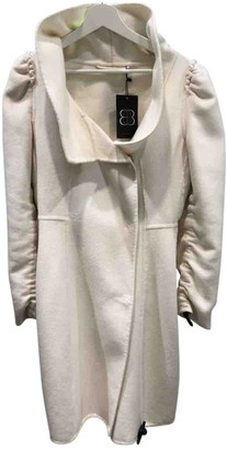 Ermanno Scervino White Wool Coat for Women