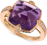 LeVian Le Vian Chocolatier® Grape AmethystTM (7-9/10 ct. t.w.) and Diamond (1/3 ct. t.w.) Ring in 14k Rose Gold