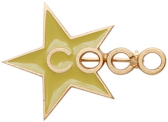 Chanel CC Yellow Metal Pins & brooches