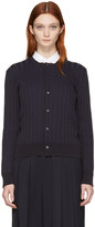 Comme des Garcons Navy Ribbed Cardigan