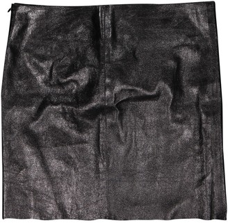 Jitrois Black Leather Skirt for Women