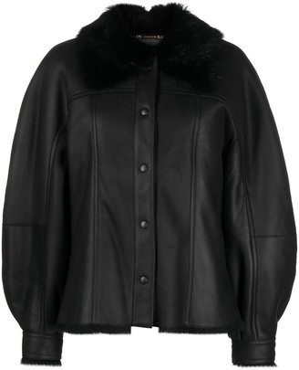 Alberta Ferretti Oversized Leather Jacket
