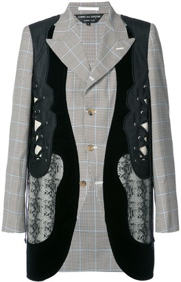 Comme des Garcons panelled fitted jacket