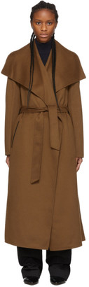 Mackage SSENSE Exclusive Brown Wool Mai Coat