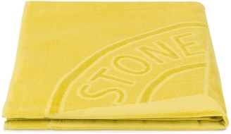 Stone Island Junior Large Stamped Logo Cotton Towel