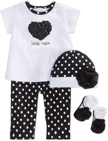 First Impressions Baby Girls' Black and White Box Set