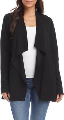 Karen Kane Drape Collar Open Front Sweater