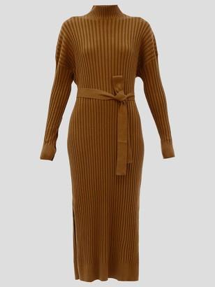 Proenza Schouler Silk-Cashmere Long-Sleeve Midi Dress