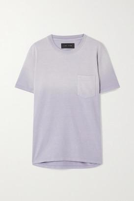 LES TIEN Ombre Cotton-jersey T-shirt - Lilac