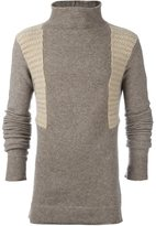 Rick Owens funnel neck jumper - men - Elastodiene/Polyamide/Wool/Yak - S