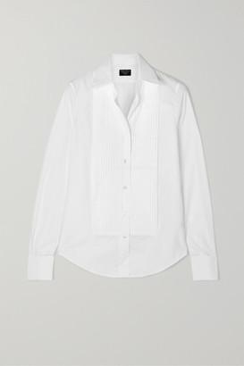 Emma Willis Pleated Cotton-poplin Shirt - White