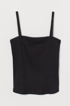 H&M Ribbed Tank Top - Black