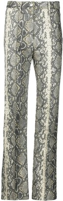 Rotate by Birger Christensen Robyn python print trousers