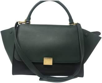 Celine Trapeze Green Leather Handbags