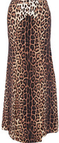 Moschino Leopard-print Crepe De Chine Maxi Skirt - Leopard print