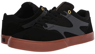 DC Kalis Vulc (Black/Grey) Men's Skate Shoes