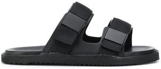 Buttero Textured Buckle Strap Sandals