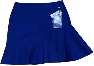 Alexander McQueen Blue Cotton Skirt for Women