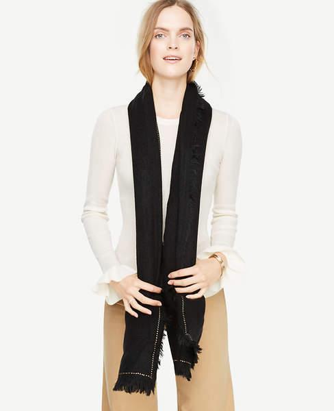 Ann Taylor Studded Blanket Scarf