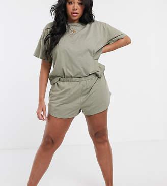 Asos DESIGN Curve mix & match jersey short-Green