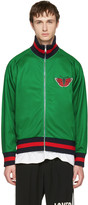 Gucci Green Snake Zip-up Sweater