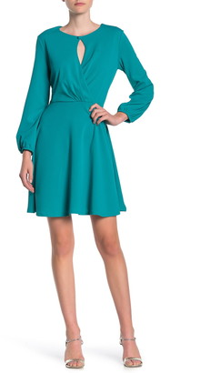 Tash + Sophie Keyhole Blouson Sleeve Mini Dress